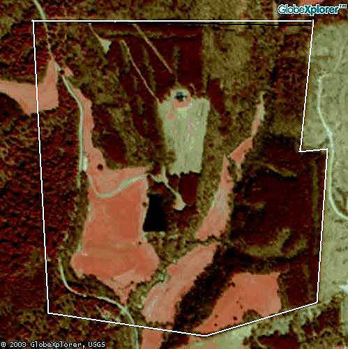 satellite view of property